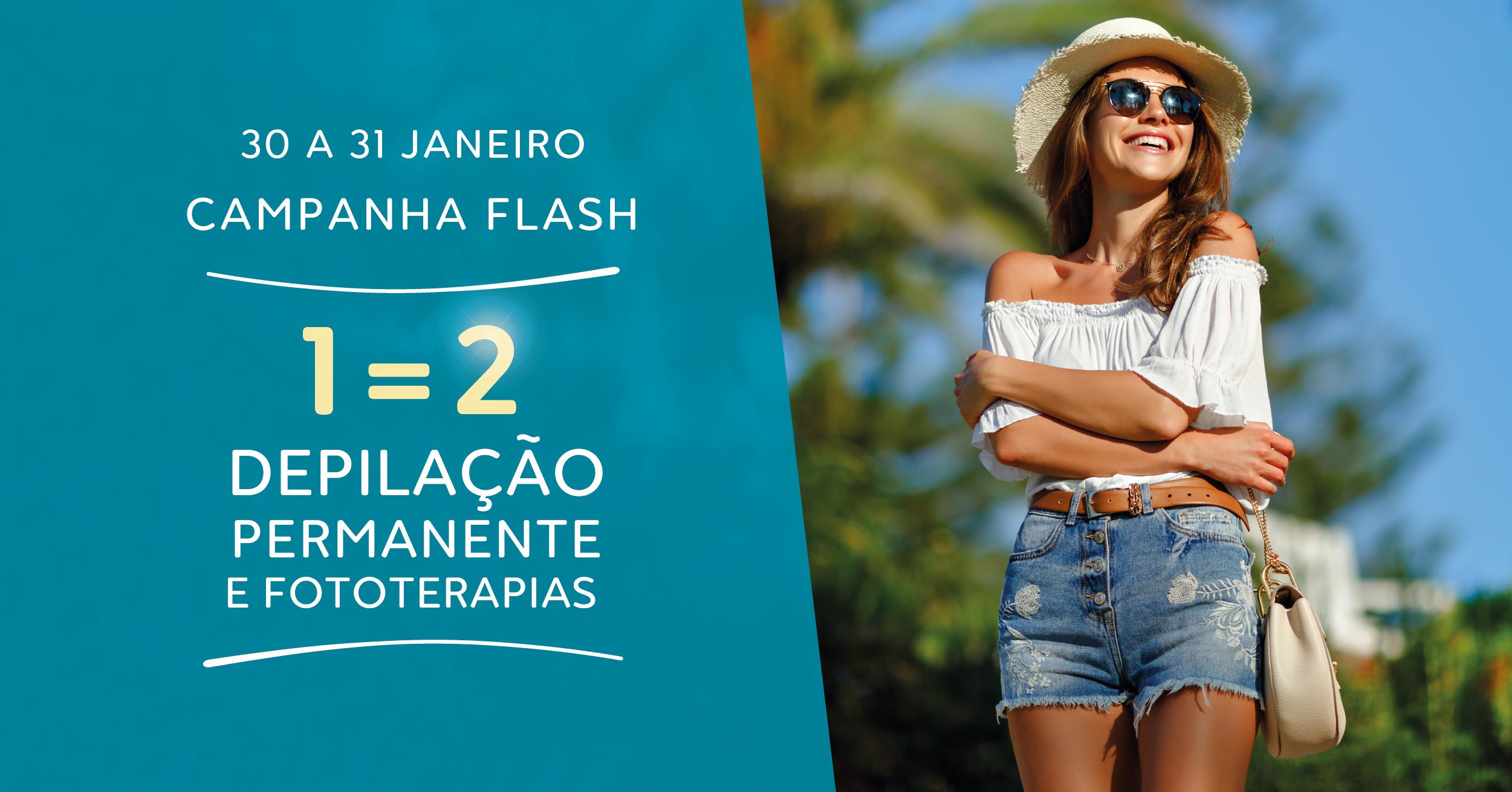 Campanha Flash: 1=2 Em Depilação Permanente E Fototerapias DepilConcept